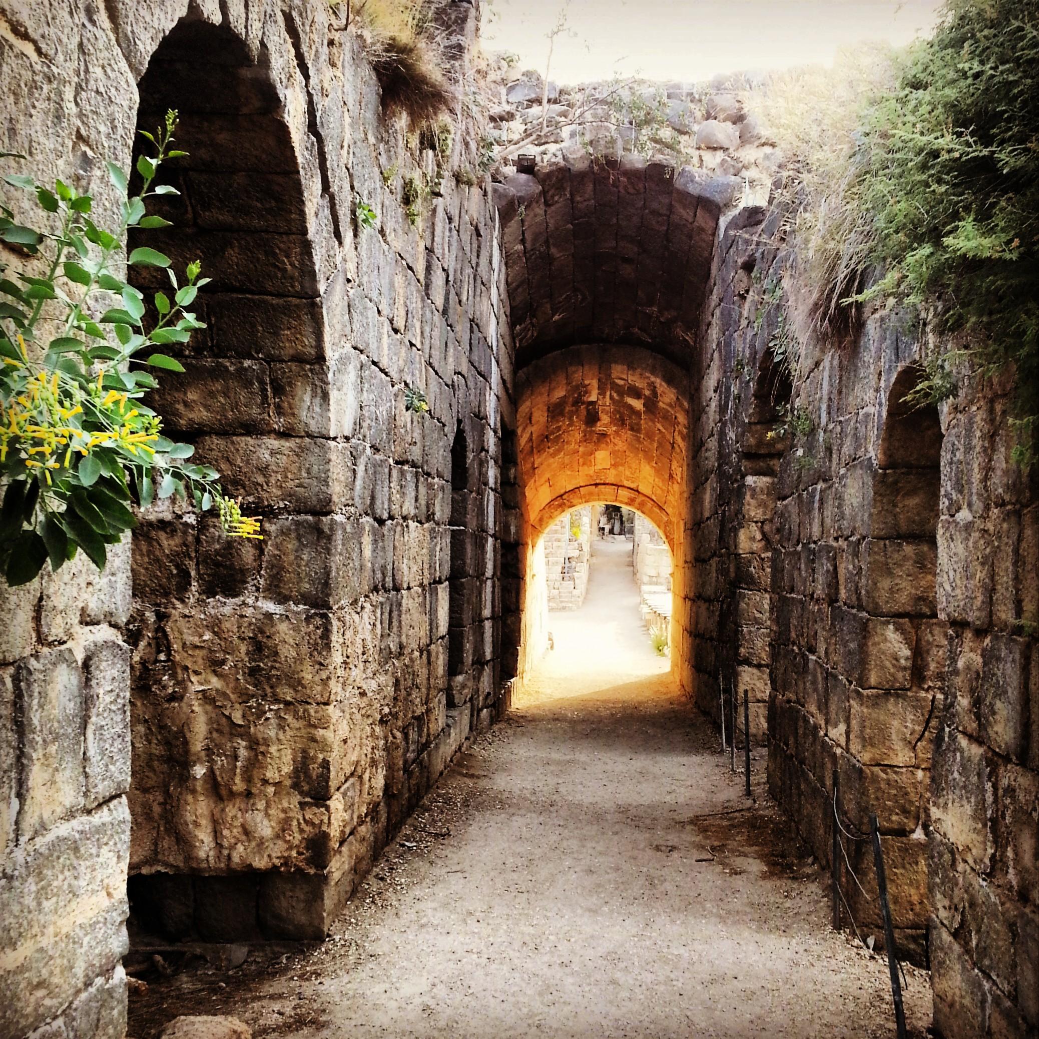 View into a theatre at Beit Shean (Scythopolis)