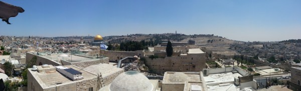 View over the Temple Mount and the Old City of Jerusalem