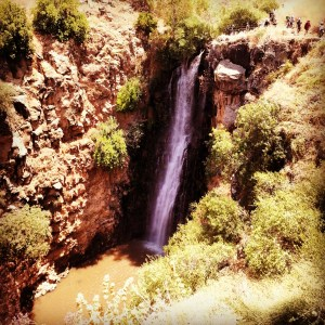 Waterfall in Nachal Jilabun / Gilabon