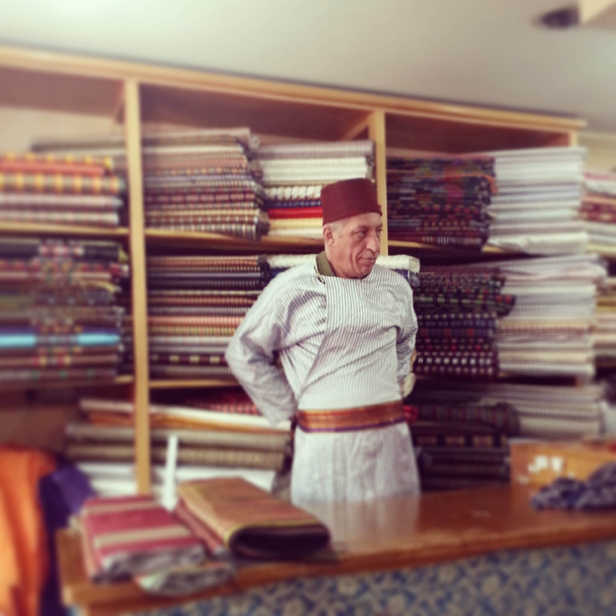 The inimitable Bilal Abu Khalaf dons his traditional garb