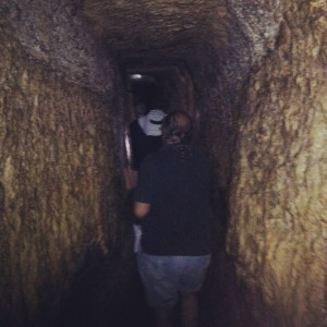 Inside Hezekiah's Tunnel, Jerusalem