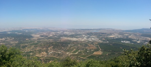 View from the summit of Mt Meron