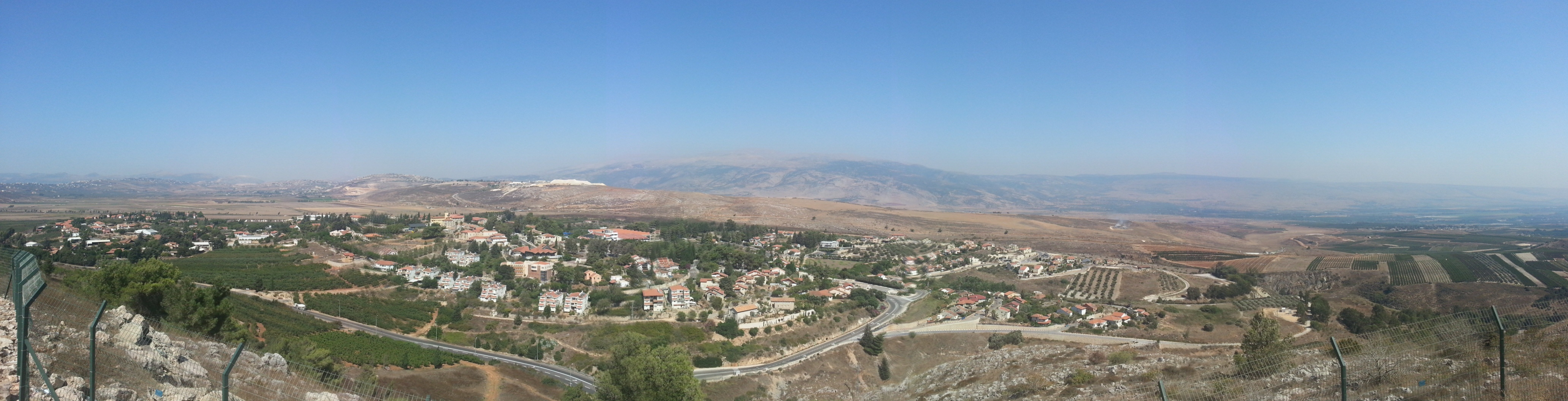 View over Metulla and into Lebanon from Mt Tzefiya