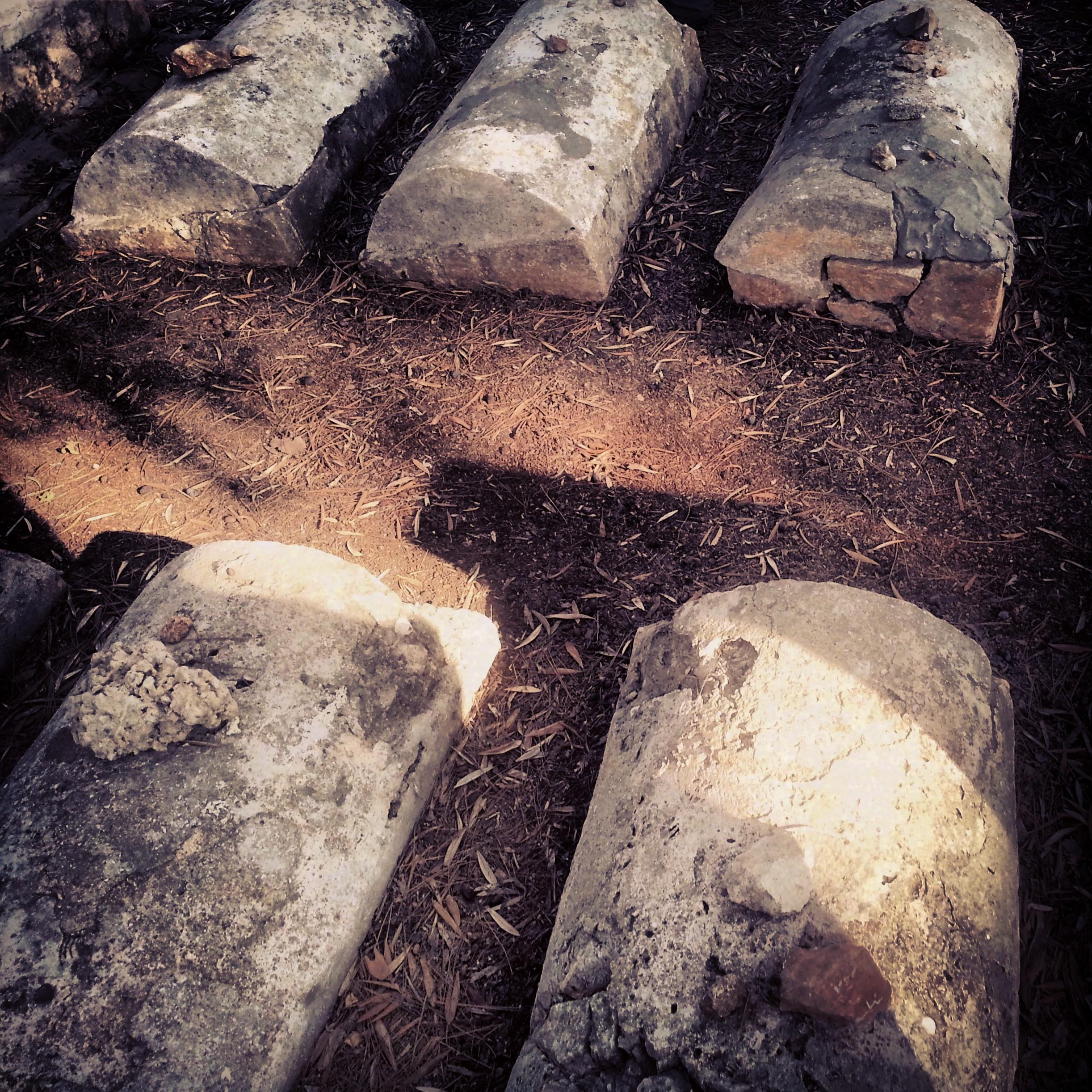 Children's graves in the Zichron Yaakov cemetery