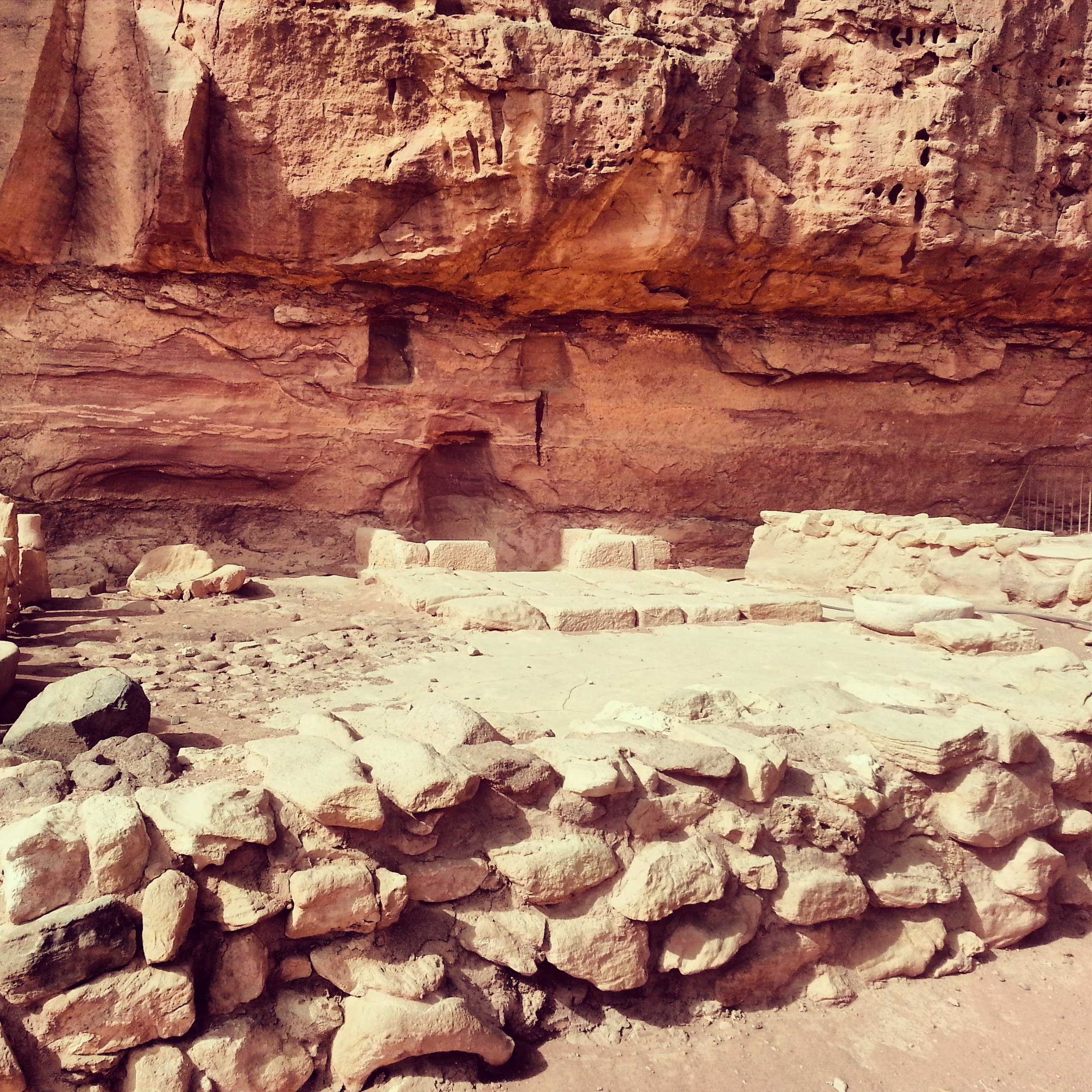 Ancient temple / ritual site in Timna