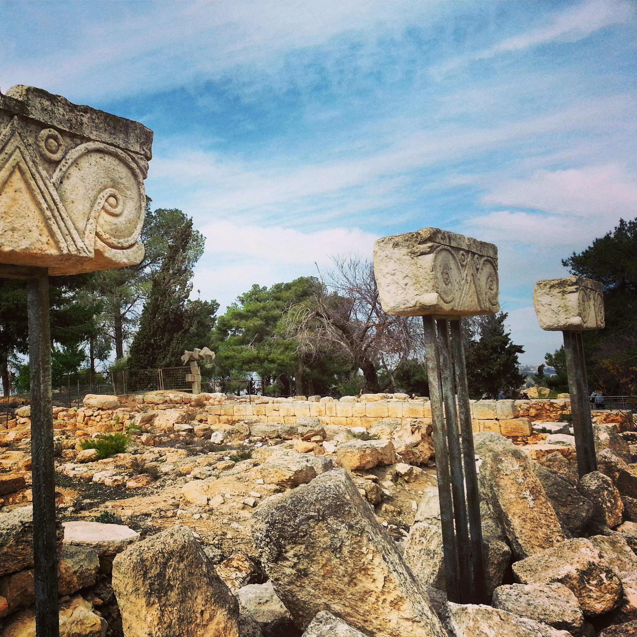 Israelite capitals dating to the 8th century BCE found at Ramat Rachel
