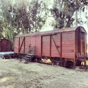 Old train carriage at Kfar Yehoshua Station