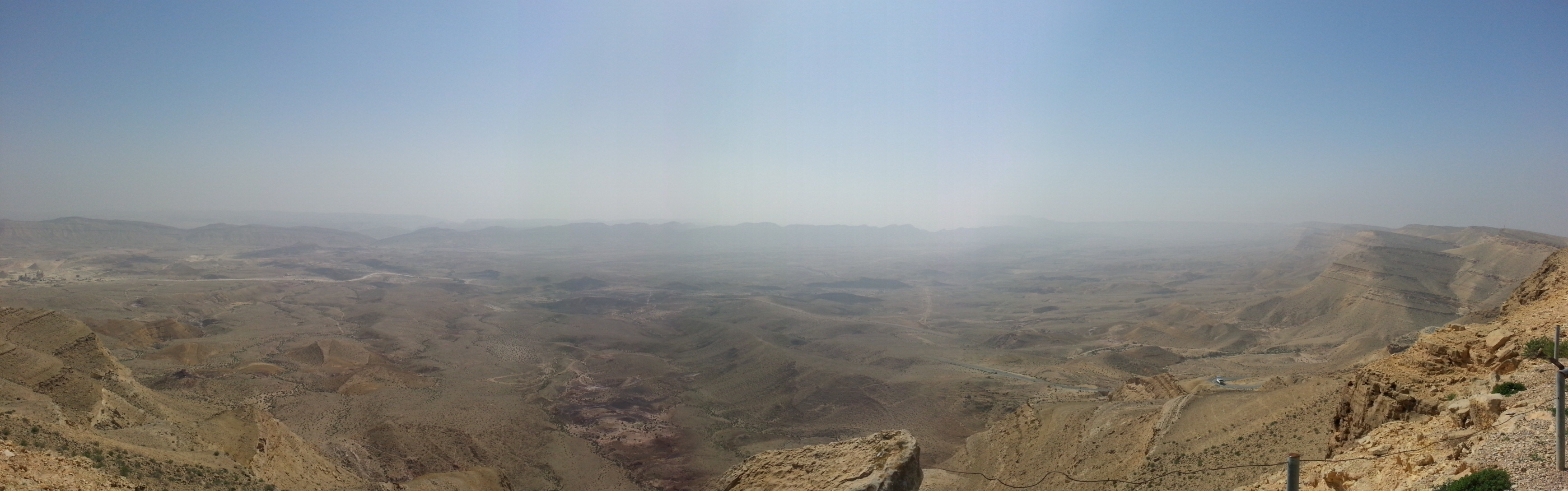 View over the Large Crater (HaMakhtesh HaGadol) from Mt Avnon