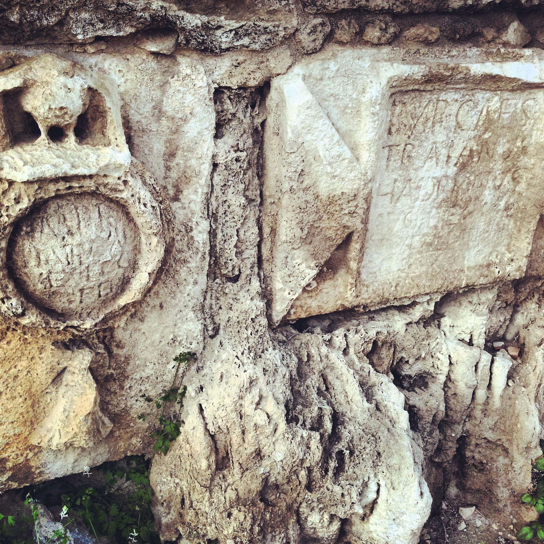 Hadrian inscription & insignia of the 10th legion at Beit Hanania