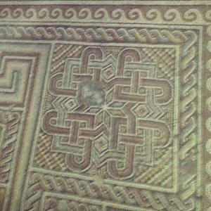 Original Byzantine mosaic in the Church of the Nativity, Bethlehem