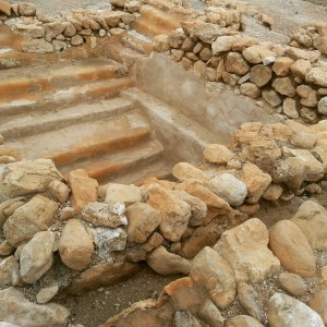 Mikve (Jewish ritual bath) at Qumran