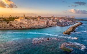 Jaffa CityScape from Water myIsraelWineTours