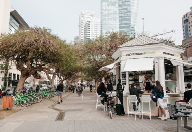 Kiosk, 10 Rothschild TelAviv, Meeting point My Israel Wine Tours