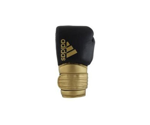 guantoni adidas hybrid 300 in pelle nero/oro 10 oz