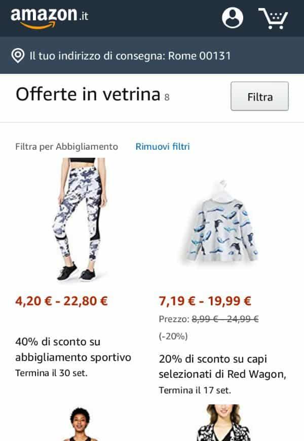 Trovare prodotti di Amazon a meno di 10€