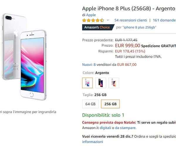 iPhone 8 Plus miglior acquisto nel 2019