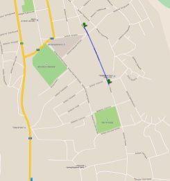 Карта маршрута по проспекту Ленина в Изюме