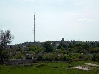Гора Кремянец в Изюме, самая высшая точка в Харьковской области (216 метров над уровнем моря)