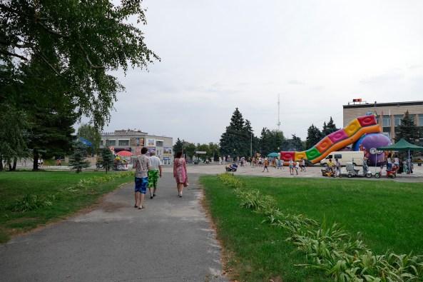 Центральная площадь в Изюме