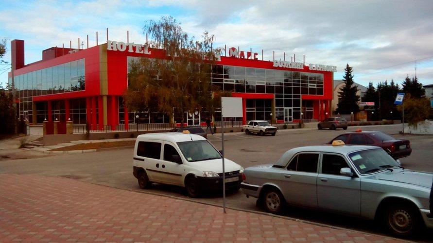 Развлекательный центр «Марс» в Изюме, вид от автовокзала