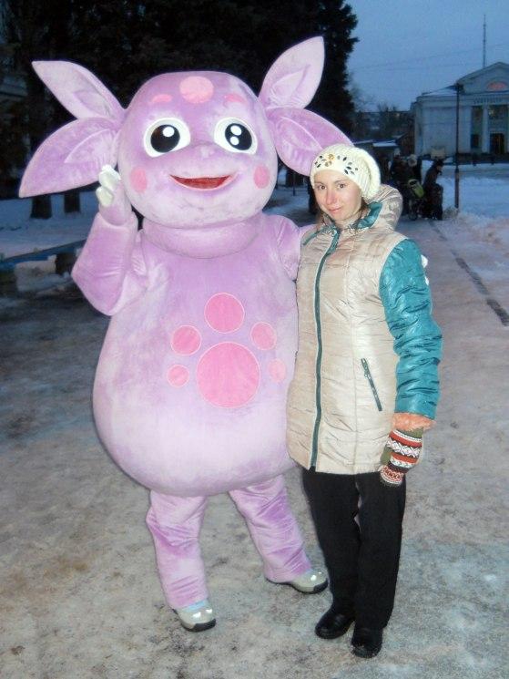 Фото на память - Виктория Быбко (Святогорск) с Лунтиком, героем мультяшки