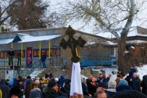 Православные изюмчане на празднике Крещения