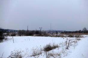 Заснеженная пойма реки и южная часть города