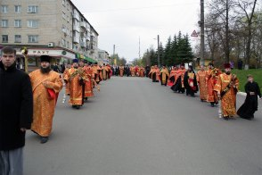 В праздник Светлого Христова Воскресения, был совершён Пасхальный крестный ход