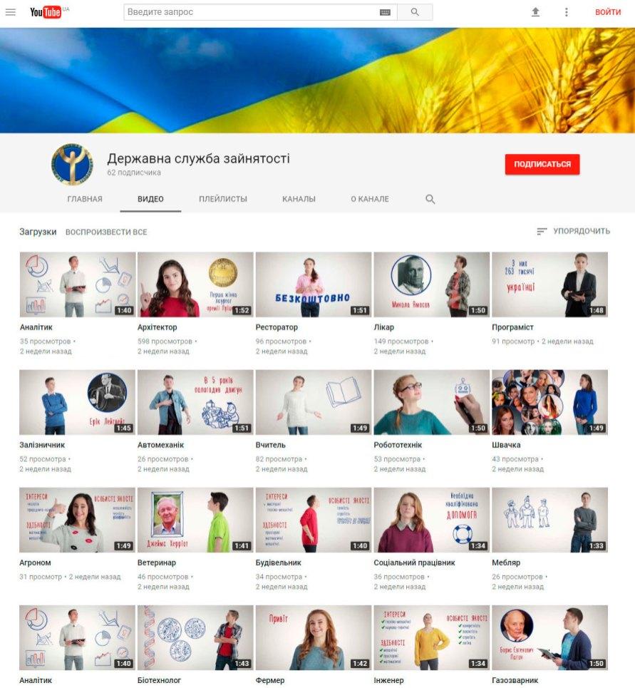 Видеоролики доступны на официальной странице Государственной службы занятости (Центрального аппарата) YouTube