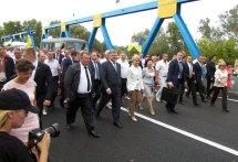 Президент Украины Петр Порошенко в Изюме