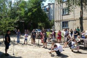 На открытии собралось много изюмчан и гостей города