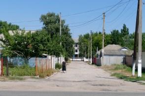По Московскому переулку видно школу №2