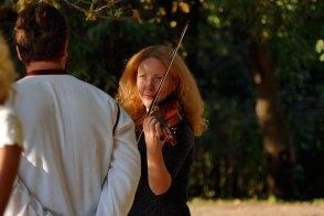 Юлия Шилько за несколько минут до начала концерта