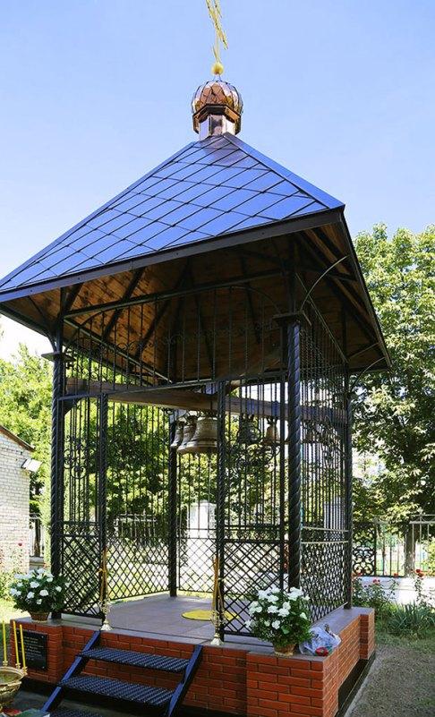 Освящение ново воздвигнутой колокольни в Преображенском храме Изюма