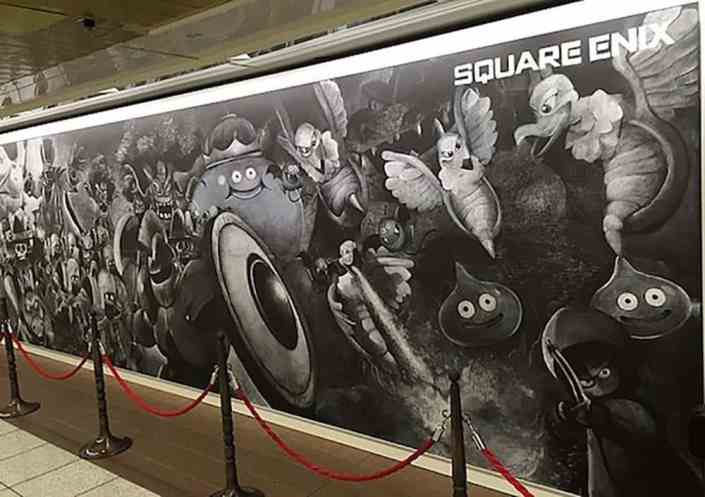 Shinjuku Station World's Biggest Chalkboard Art