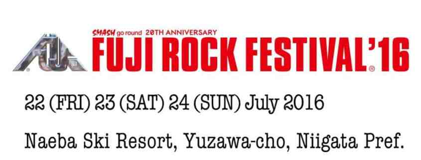 Heading to Fuji Rock Festival 2016