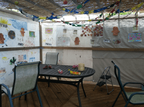 """My sukkah is decorated with art created by my religious school students and my children over the years."" —Stacy Gittleman of West Bloomfield"
