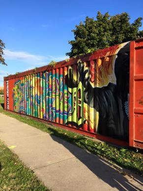Chabad of Greater Downtown Detroit shares its shipping container sukkah for the second year in a row with the city.