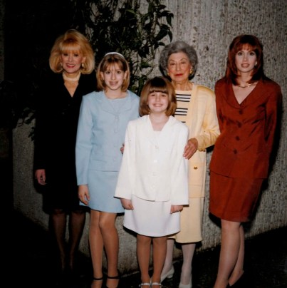 Brittany with her mom, sister, grandmother and great-grandma Rena.