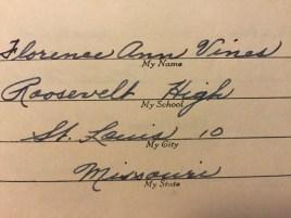Grandma's handwriting.