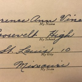 Grandma's handwriting.