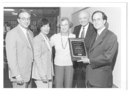 The Berman Award to David Gad Harf with Robert Aronson, Penny Blumenstein, Madeleine and Mandell L. Berman
