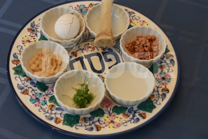 Jewish Stock Photos - seder plate