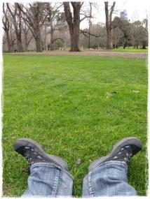Relaxing, Fitzroy Gardens