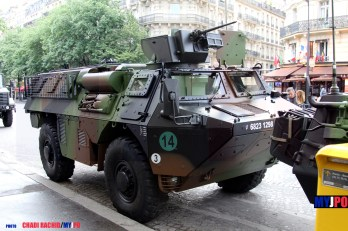 A French Army VAB VAT GEO of the 28e Groupe Géographique, Paris, July 14, 2016.