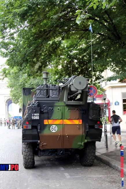 A French Army VAB SAEC of the54e Régiment de Transmissions, Paris, July 14, 2016.