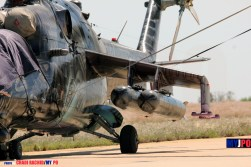 """The Czech Air Force MIL Mi-24V """"Alien Tiger"""" of the 221 LtBVr, NATO Tiger Meet, Zaragoza Air Force Base, 05/2016."""