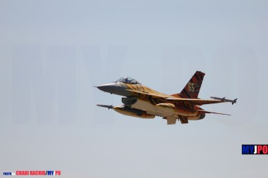 The Belgian Air Force 31 smd F-16A MLU Fighting Falcon, NATO Tiger Meet, Zaragoza Air Force Base, 05/2016.
