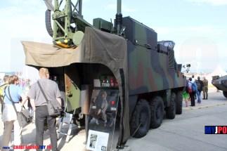 The Swiss Army Mowag 8X8 PIRANHA IIIC KOMPAK Pz at AIR14, Payerne, September 2014.