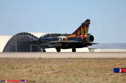 The French Air Force ECE 01/30 Mirage 2000D, Zaragoza Air Force Base, 05/2016.